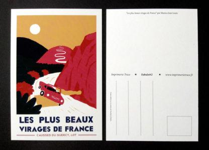 CARTE POSTALE FABULOT : LES PLUS BEAUX VIRAGES DE FRANCE