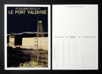 CARTE POSTALE FABULOT : LE PONT VALENTRÉ
