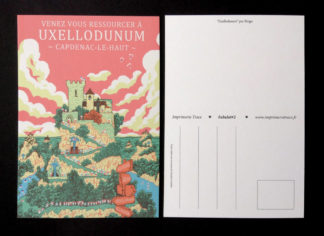 CARTE POSTALE FABULOT : UXELLODUNUM